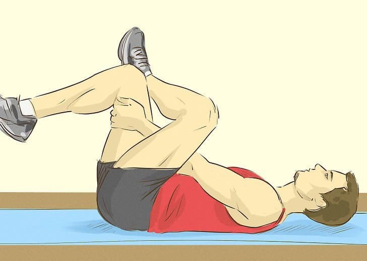 sciatica stretches - reclining pigeon pose